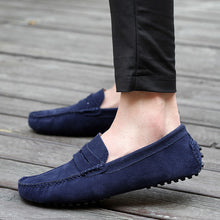 Load image into Gallery viewer, Nubuck Round Toe Men Casual Shoes