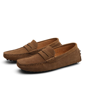 Nubuck Round Toe Men Casual Shoes
