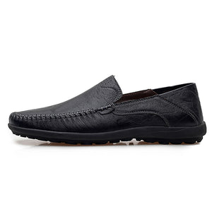 Men Comfortable Casual Genuine Leather Shoes Loafers
