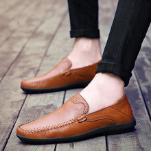 Load image into Gallery viewer, Men Comfortable Casual Genuine Leather Shoes Loafers