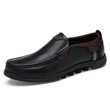 Load image into Gallery viewer, Men Shoes Genuine Leather Oxfords Plus Size 48 Slip
