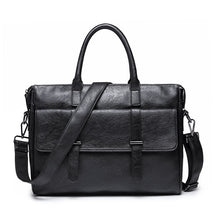 Load image into Gallery viewer, Men Fashion Travel Messenger Bag Biefcase Men Bag PU Leather