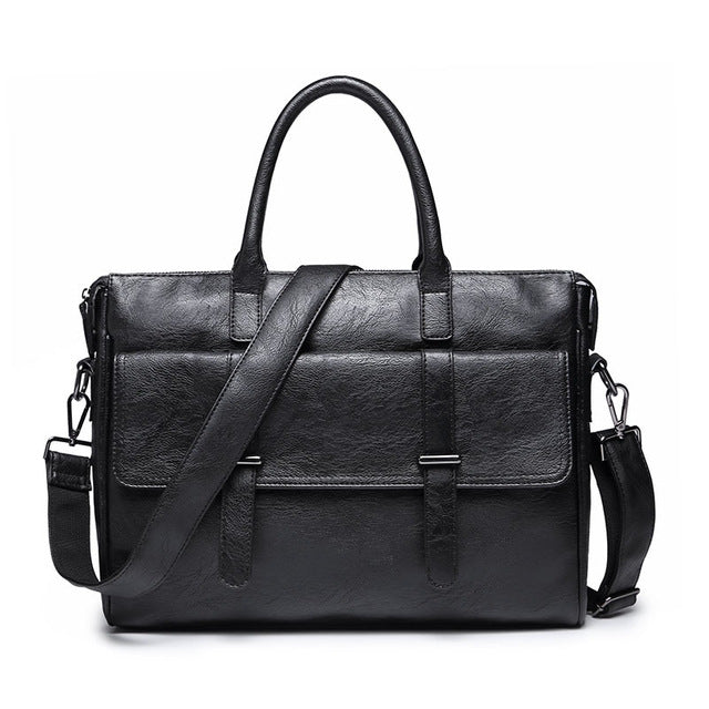 Men Fashion Travel Messenger Bag Biefcase Men Bag PU Leather