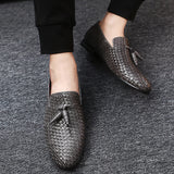 Genuine Leather Big Size  Summer Men Slip-On Shoes