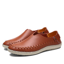 Load image into Gallery viewer, Genuine Leather Moccasins Men Driving Shoes