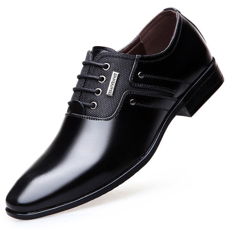 Leather Pointed Toe Men Dress Shoes Catcas