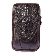Load image into Gallery viewer, Men  Crocodile Pattern Genuine Leather Mobile Phone Cover Case Pocket Hip Belt Pack Waist Bag