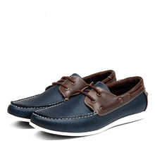 Saddle Lace Up Casual Male Loafer