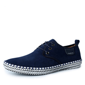 Solid Color Suede Oxford Casual Shoes