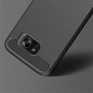 Shockproof Carbon Fiber TPU Drawing Material Phone Cases  For Samsung