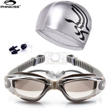 Waterproof Anti-fogSwim Goggles With Hat and Ear Plug Nose Clip Suit