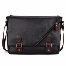 Load image into Gallery viewer, Large Horizontal Black Satchel Men Messenger Bag