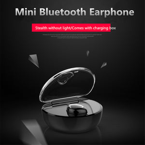 Romantic Heart-shaped Stereo Mini Wireless Bluetooth Invisible Sports Earphone With Charging Box