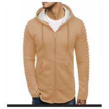 Load image into Gallery viewer, Men's Shoulder Pleated Casual Sports Sweatshirt