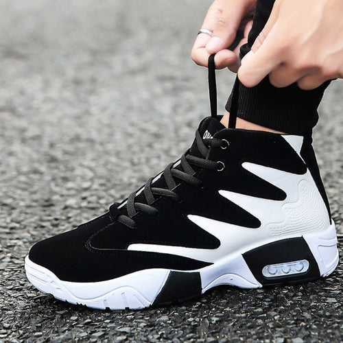 Lace Up Patchwork Running Men's Sneakers