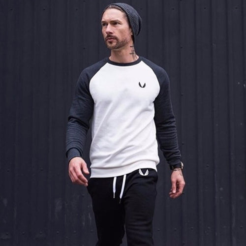 Autumn and winter round neck long-sleeved T-shirt