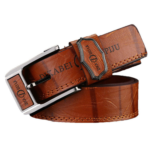 Luxury Pin Buckle Leather Men's Belts