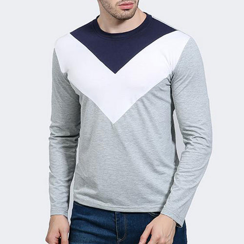 Round Collar Inverted Triangle Men's Sweatshirt