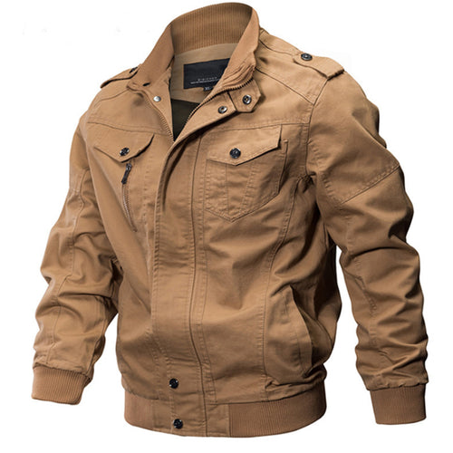 Military casual jacket men's cotton washed flight suit