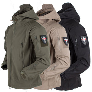 Soft Shell V4 Tactical Military Jacket Waterproof Softshell Jackets Men Army Hoody Jacket