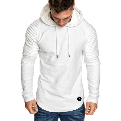Men's Fashion Hoody Sweater Coat Pullover Casual Solid Color Sweatershirt