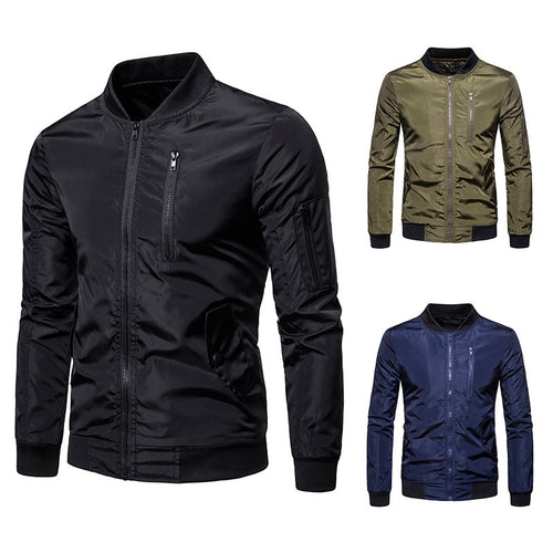 Solid color casual stitching jacket