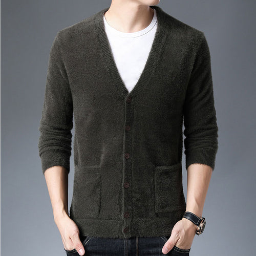 Men's Cardigan Imitation Water Jacket Sweater
