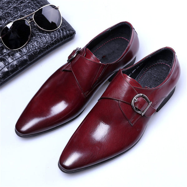 Leather Business Pointed Toe Men's Oxfords