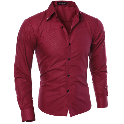Solid color casual men's shirt