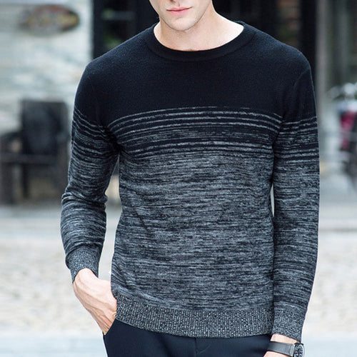 Pullover Long Sleeve Round Neck  Men's Sweater