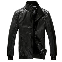 Load image into Gallery viewer, Slim-fit locomotive men's leather jacket