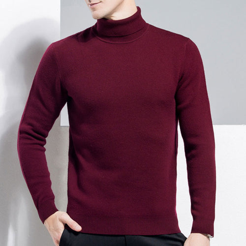 With Solid Color Medium Thickness Men's Sweater