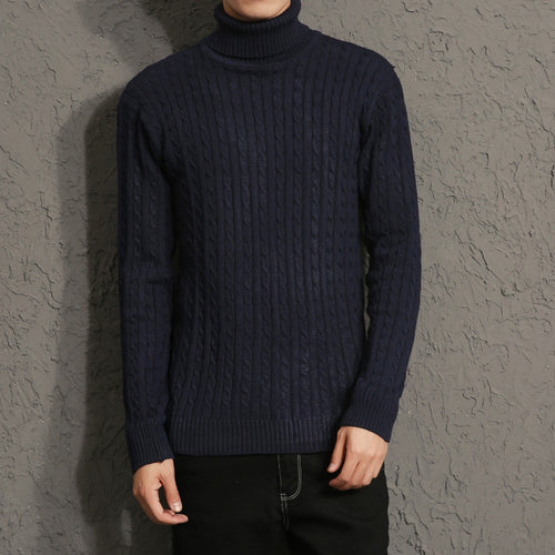 Pure Color Long Sleeve Pullover Men's Sweater