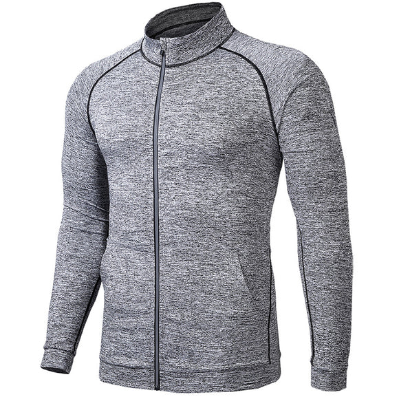 Outdoor thin stretch quick-drying stand collar casual men's jacket
