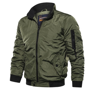 Casual men's flight jacket