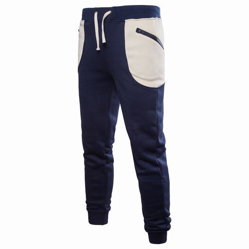 Leisure Sports Pocket Lace Up Cotton Men's Casual Pants