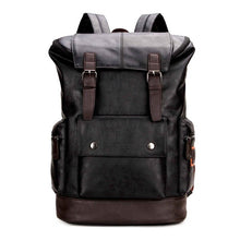 Load image into Gallery viewer, Simple Patchwork Large Capacity Mens Leather Backpack