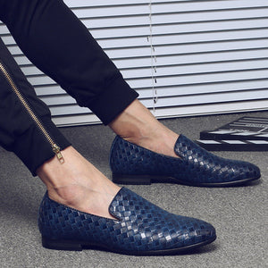 Simple Anyaman Pattern Men Loafers