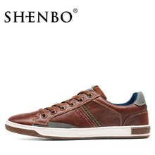 Load image into Gallery viewer, Retro Style Lace Up Leather Male Shoes