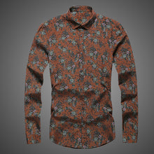 Load image into Gallery viewer, Men Floral Printing Long Sleeve Elegant Shirts