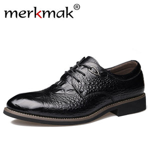 New Genuine Leather Men's Oxford Shoes