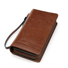 Load image into Gallery viewer, Men's Genuine Leather Long Wallet