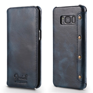 Luxury Real Genuine Leather Flip Wallet Case For Samsung S8/S8+