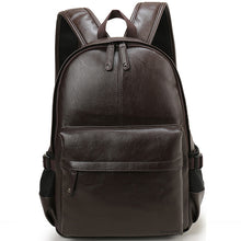 Load image into Gallery viewer, Preppy Casual Style Leather Backpack Bag For Men