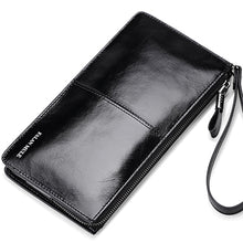 Load image into Gallery viewer, Long Genuine Leather  Purse Male Clutch Wallet
