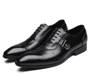 Italian Design Leather Lace Up Men  Oxfords Dress Shoes