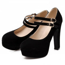 Load image into Gallery viewer, Sexy Buckle Lady Platform Court Pumps