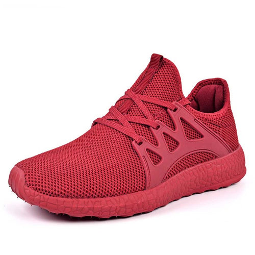 New Simple Breathable Mesh Men Running Shoes