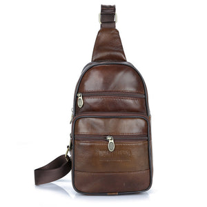 Waist Cow Leather Sling Male Bag