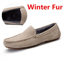 Load image into Gallery viewer, New Casual Suede Leather Moccasins Plush Men Loafers